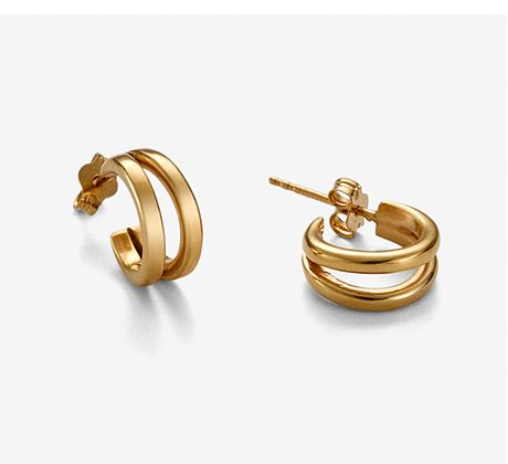 double circle - earring gold