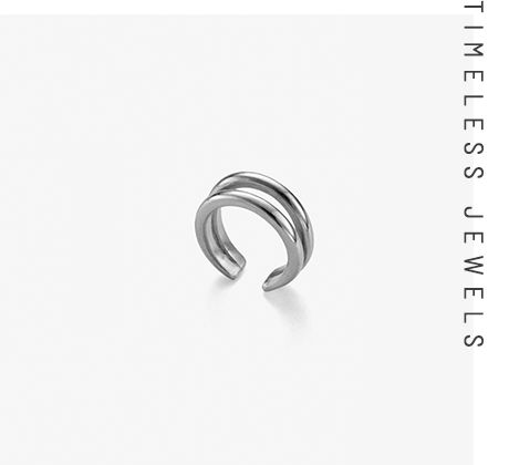 double circle - ring silver